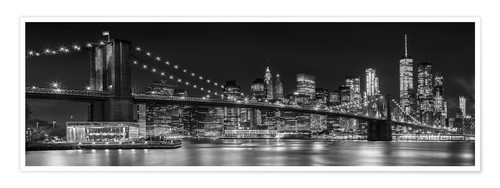 Poster New York City Night Skyline