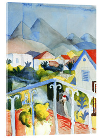 Acrylglas  Saint Germain bei Tunis - August Macke