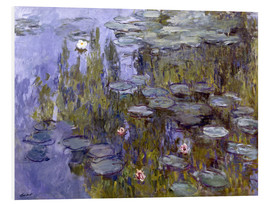 Hartschaumbild  Seerosen (Nympheas) - Claude Monet