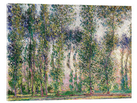Acrylglasbild  Pappeln in Giverny - Claude Monet