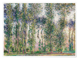 Poster  Pappeln in Giverny - Claude Monet