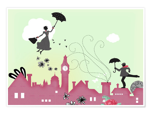 Premium-Poster Mary Poppins London
