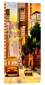 Acrylglasbild  San Francisco - Van Ness Cable Car - M. Bleichner