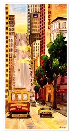 Premium-Poster San Francisco - Van Ness Cable Car