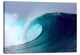 Leinwandbild  Tropical blauen Welle surfen - Paul Kennedy