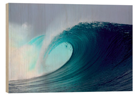 Holzbild  Tropical blauen Welle surfen - Paul Kennedy
