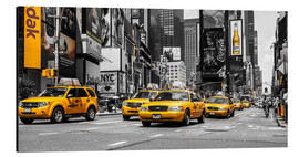 Alubild  Yellow Cabs auf dem Times Square - Hannes Cmarits