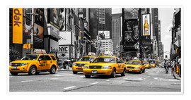 Premium-Poster  Yellow Cabs auf dem Times Square - Hannes Cmarits