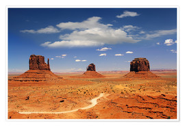 Premium-Poster  Monumente Valley Navajo National Monument - Renate Knapp