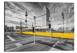 Alu-Dibond  Alexanderplatz Berlin Colorkey - Marcus Klepper