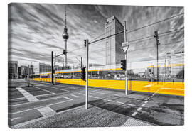 Leinwandbild  Alexanderplatz Berlin Colorkey - Marcus Klepper