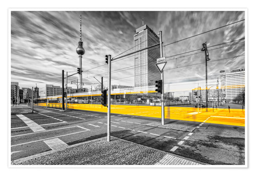 Premium-Poster Alexanderplatz Berlin Colorkey