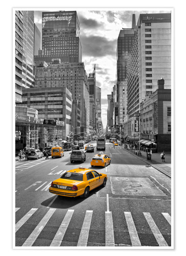 Premium-Poster New York Yellow Cab