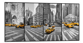 Hartschaumbild  New York Cab Collage - Marcus Klepper