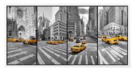Premium-Poster New York Cab Collage