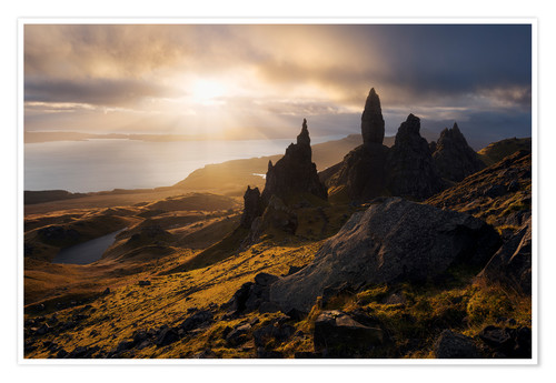 Premium-Poster Schottland - Isle of Skye - Old Man of Storr