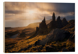 Holzbild  Schottland - Isle of Skye - Old Man of Storr - Tobias Richter