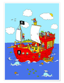 Premium-Poster  Suchbild Piratenschiff - Fluffy Feelings