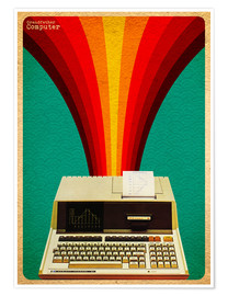 Premium-Poster  grandfather computer - David Siml