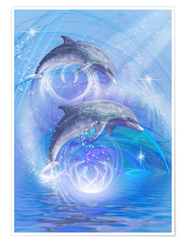 Poster  Dolphins Joyride - Dolphins DreamDesign