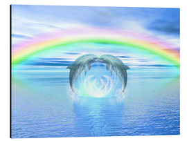 Alubild  Dolphins Rainbow Healing - Dolphins DreamDesign