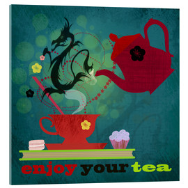 Acrylglasbild  Enjoy your tea - Elisandra Sevenstar