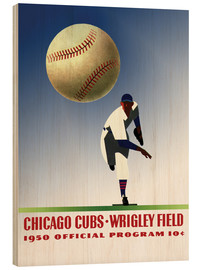 Holzbild  chicago cubs 1950 - Sporting Frames