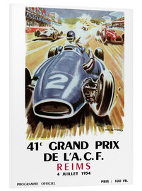 Hartschaumbild  grand prix reims - Sporting Frames