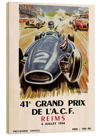Holzbild  grand prix reims - Sporting Frames