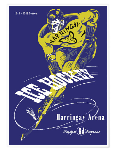 Premium-Poster harringay ice hockey