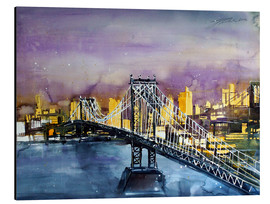 Alubild  New York, Manhattan Bridge - Johann Pickl