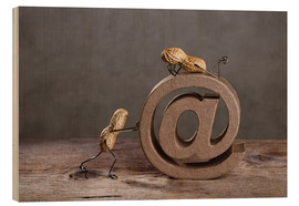 Holzbild  Simple Things - Email - Nailia Schwarz