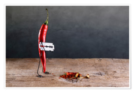 Premium-Poster  Simple Things ? Scharfe Chilischote - Nailia Schwarz