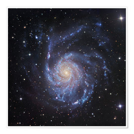 Premium-Poster M101, die Spiralgaxie in Ursa Major