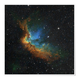 Premium-Poster NGC 7380 in Hubble-Palette Farben