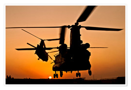 Premium-Poster Zwei Royal Air Force CH-47 Chinook
