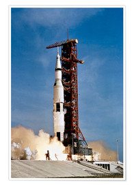 Premium-Poster  Apollo-11-Raumfahrzeug hebt vom Kennedy Space Center ab