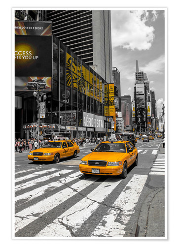 Premium-Poster Yellow Cabs auf dem Time Square 2
