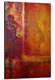 Alubild  Color Fields 'Red Orange Yellow Gold' - John Lang Art Gallery