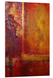 Hartschaumbild  Color Fields 'Red Orange Yellow Gold' - John Lang Art Gallery