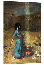 Acrylglasbild  Der magische Zirkel - John William Waterhouse