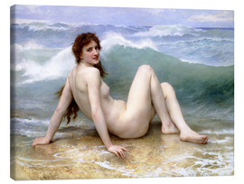 Leinwandbild  Die Welle - William Adolphe Bouguereau