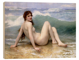 Holzbild  Die Welle - William Adolphe Bouguereau