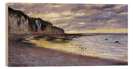 Holzbild  Pointe De Lailly, Maree Basse - Claude Monet