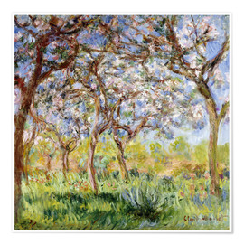 Poster  Frühling in Giverny - Claude Monet