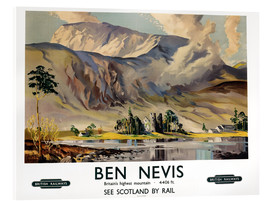 Acrylglasbild  Ben Nevis, British Railways - Scottish School
