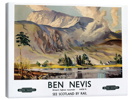 Leinwandbild  Ben Nevis, British Railways - Scottish School
