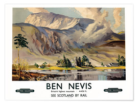 Premium-Poster  Ben Nevis, British Railways - Scottish School