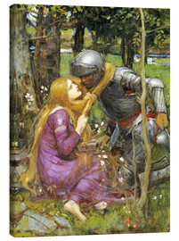 Leinwandbild  Eine Studie für La Belle Dame sans Merci - John William Waterhouse