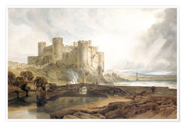 Premium-Poster  Conway Castle - Joseph Mallord William Turner